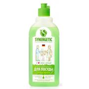 SYNERGETIC Средство биоразлагаемое для мытья посуды, детских игрушек с ароматом яблока, 0,5 л