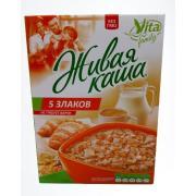 """Живая каша """"Vita"""" 100% """"5 злаков микс"""" с проростками зерна +хлопья 300 гр"""