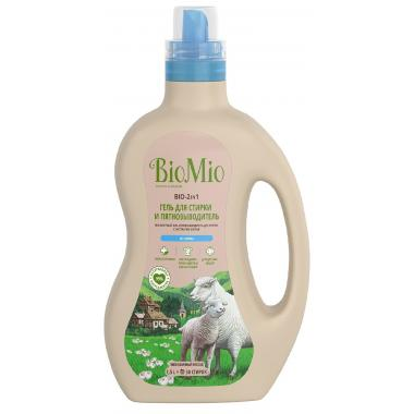 BIO-2-IN-1 Экологичный гель и пятновыводитель для стирки белья.Без запаха/1.500мл (BioMio)