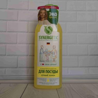 Synergetic средство биоразлагаемое для мытья посуды,детских игрушек с ароматом лимона 1л