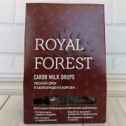 Royal forest carob milk drops лесной орех в шоколаде из кэроба,75гр
