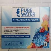 Стиральный порошок концентрат для стирки цветного белья Pure water 800гр