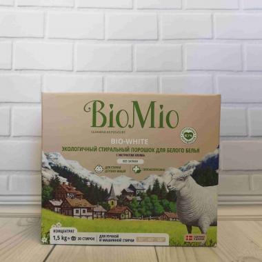 """Эколог.стир.порошок д/белого белья с экстр.хлопка.Концентрат.Без запаха/1,500гр """"BioMio"""""""