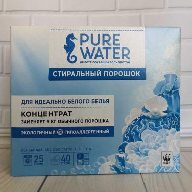 Стиральный порошок концентрат для идеально белого белья Pure water.800гр